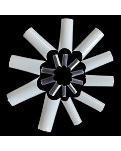 500 100 50 Nagel Nail Art C-Kurve Tunnel Pinch Tips Natur Weiß Klar Transparent