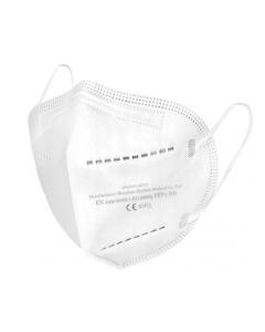 Opero Mundschutz 3-lagig elastische Ohrschlaufen Weiß 50