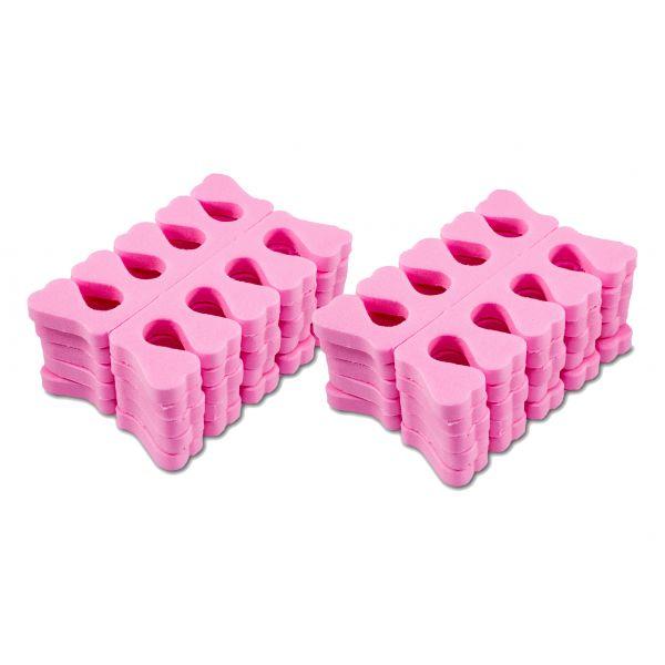 10 Paar Zehenspreizer Pink Schaumstoff