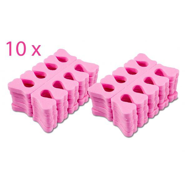 100 Paar Zehenspreizer Pink Schaumstoff