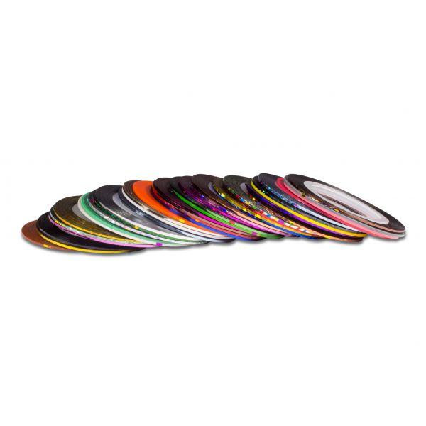 Nagelzierstreifen in 10 Farben