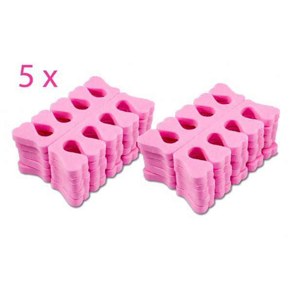 50 Paar Zehenspreizer Pink Schaumstoff