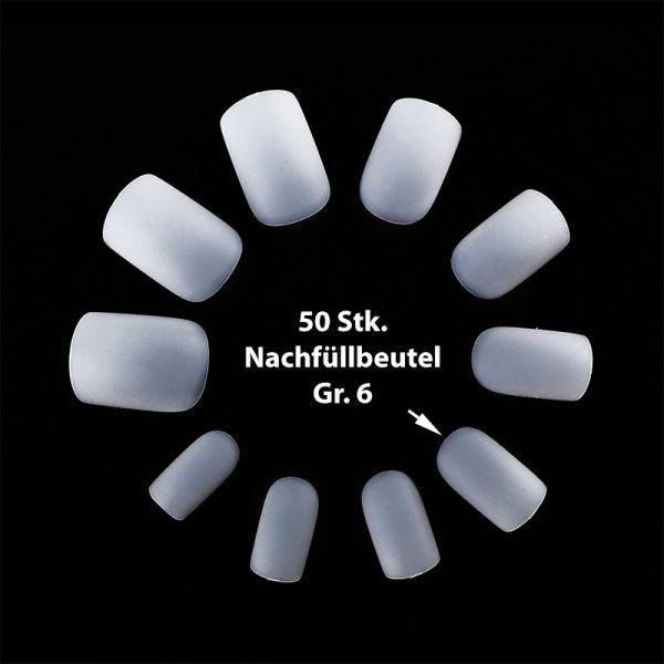 50 ultradünne Flexi Tips Naturweiß Gr. 6