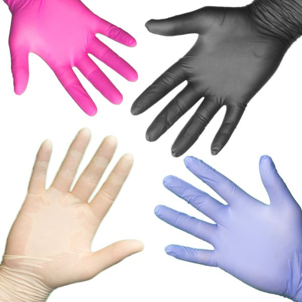Einmalhandschuhe Einweghandschuhe Gummihandschuhe Vinyl Nitril Handschuhe