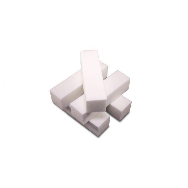 5 Buffer / Schleifblöcke 4 Seiten Weiß