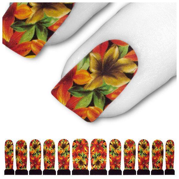 Tattoo Rot Orange Gelb Krokus Blume Blüte C3-12