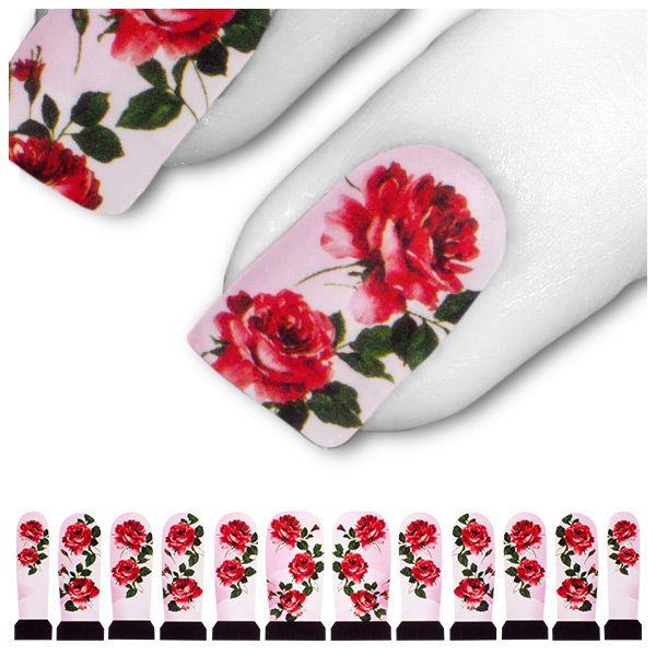 Transfer Tattoo Rot Pink Rosa Rose Rosen C3-16