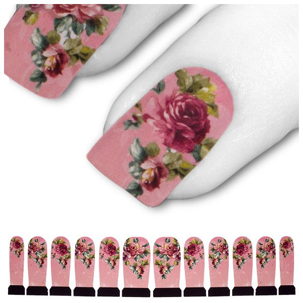 Transfer Tattoo Rot Pink Rosa Rose Rosen C3-17