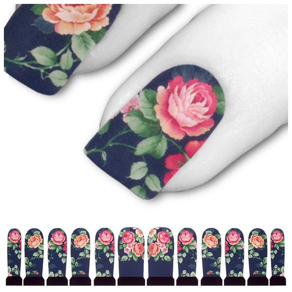 Transfer Tattoo Blau Rosa Pink Rose Rosen C6-04
