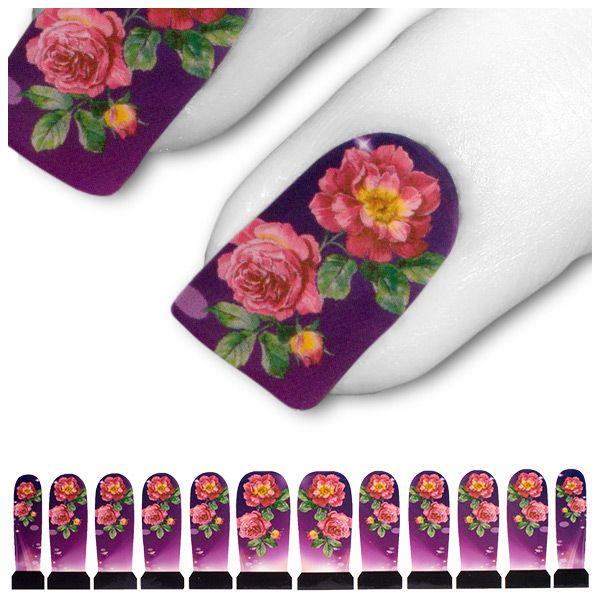 Tattoo Lila Rosa Pink Blume Blüte Rose C7-16