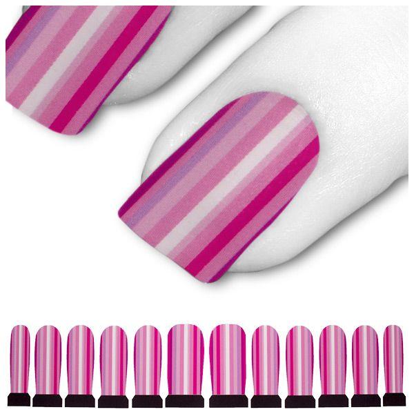Tattoo Rosa Pink 60s 70s Streifen Disko C8-05