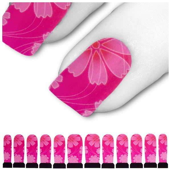 Transfer Tattoo Rosa Pink Lotus Blume Blüte C8-12