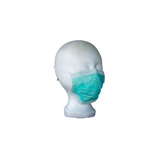Opero Mundschutz 3-lagig zum Zubinden Grün 50