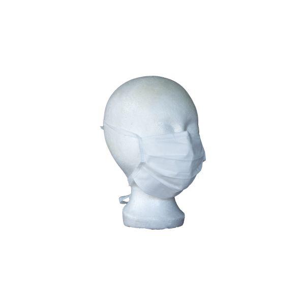 Opero Mundschutz 3-lagig zum Zubinden Weiß 50