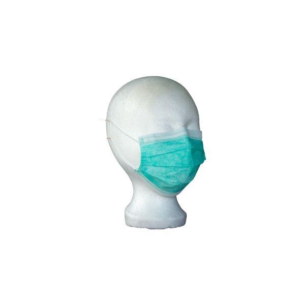 Opero Mundschutz 3-lagig elastische Ohrschlaufen Grün 50