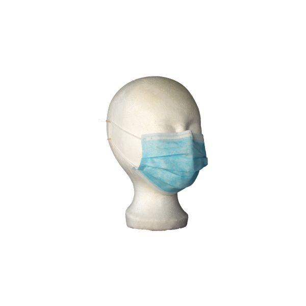 Opero Mundschutz 3-lagig elastische Ohrschlaufen Blau 50