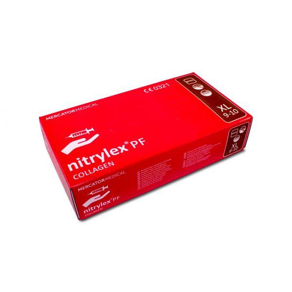 nitrylex PF Collagen Nitril Puderfrei Pink 100 XL